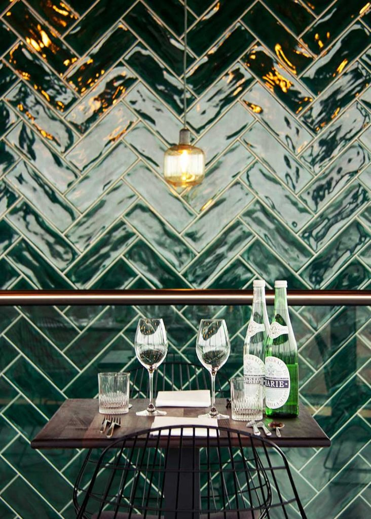 Tonalite tiles at WT Urban Café&Kitchen in Utrecht, Niederlands