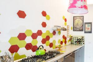 Progetto Casa di Penni di 23Bassi con Exabright Bianco, Lime, Rosso